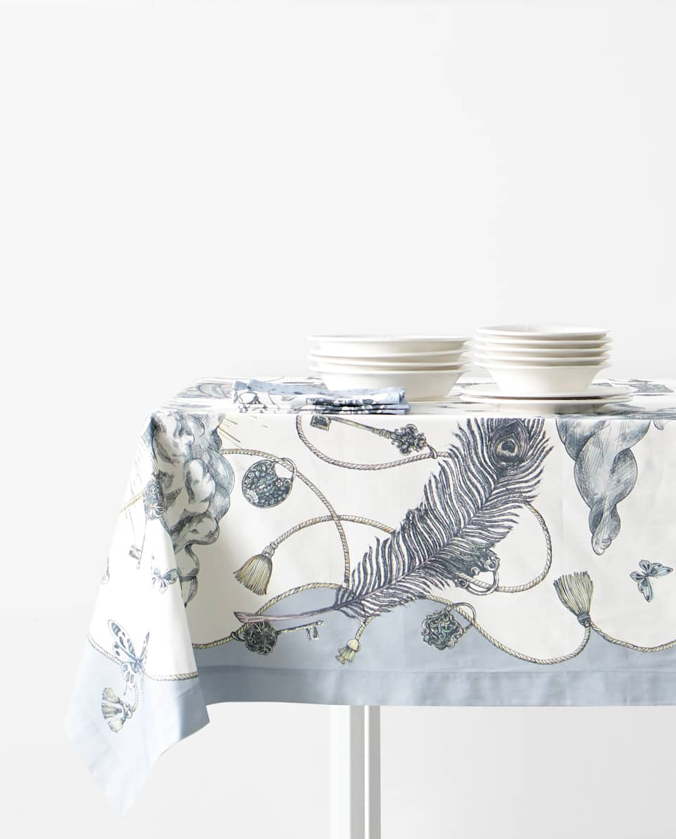 MARINE PRINT TABLECLOTH