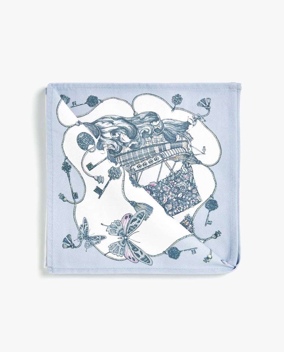 MARINE PRINT NAPKIN (PACK OF 4)
