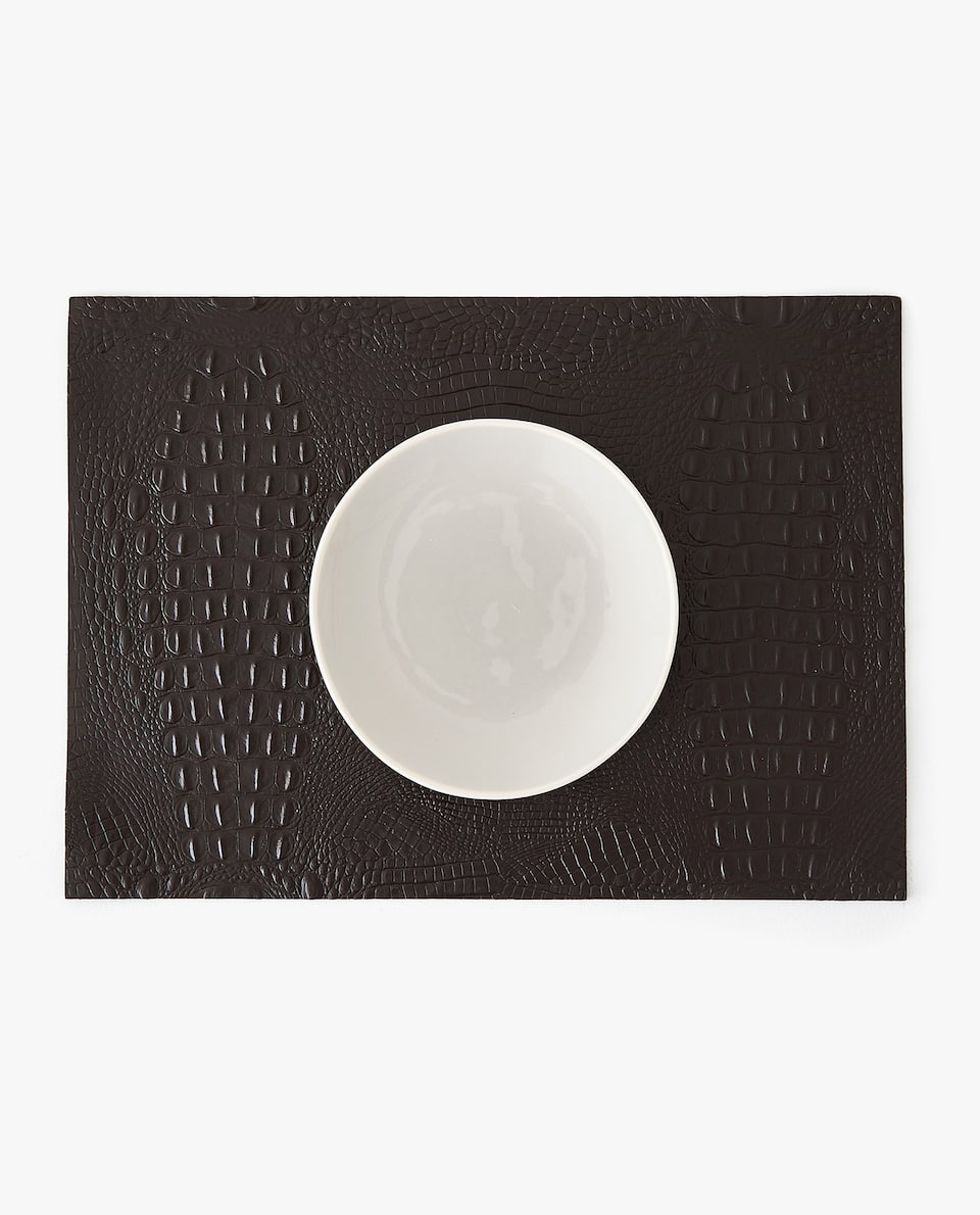 MOCK CROC LEATHER PLACEMAT