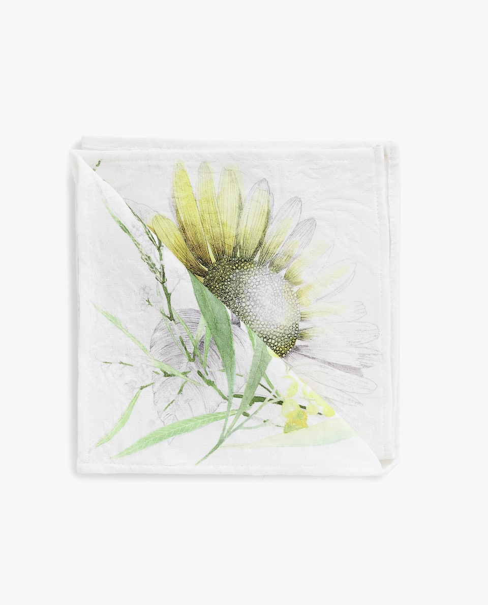 FLORAL JACQUARD NAPKIN (PACK OF 4)