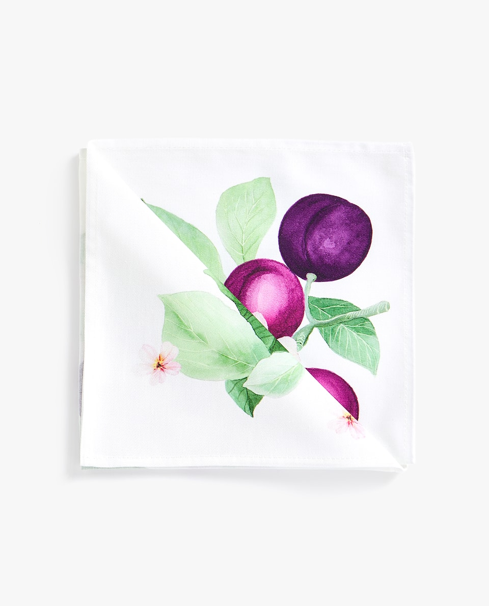 PLUM PRINT NAPKIN (PACK OF 4)