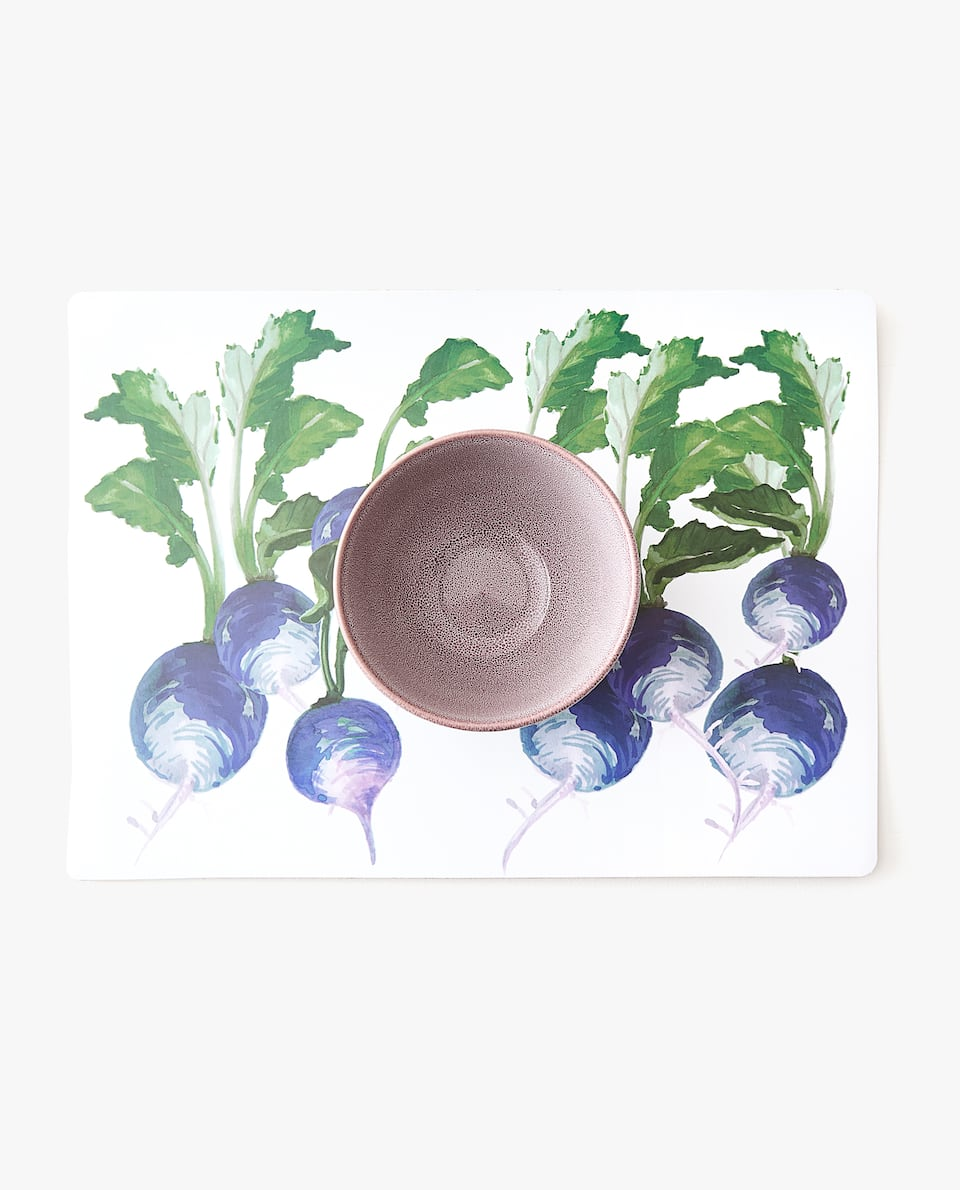 VEGETABLE PRINT PLACEMAT (PACK OF 4)