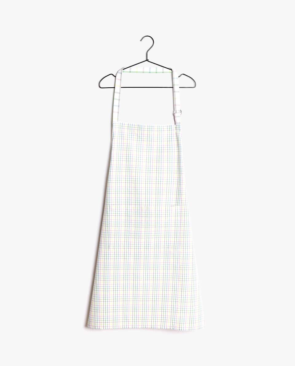 MULTICOLOURED STRIPE COTTON APRON