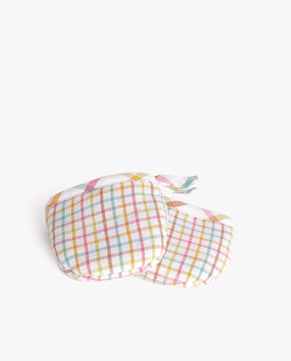 MULTICOLOURED STRIPE COTTON MINI POT HOLDER