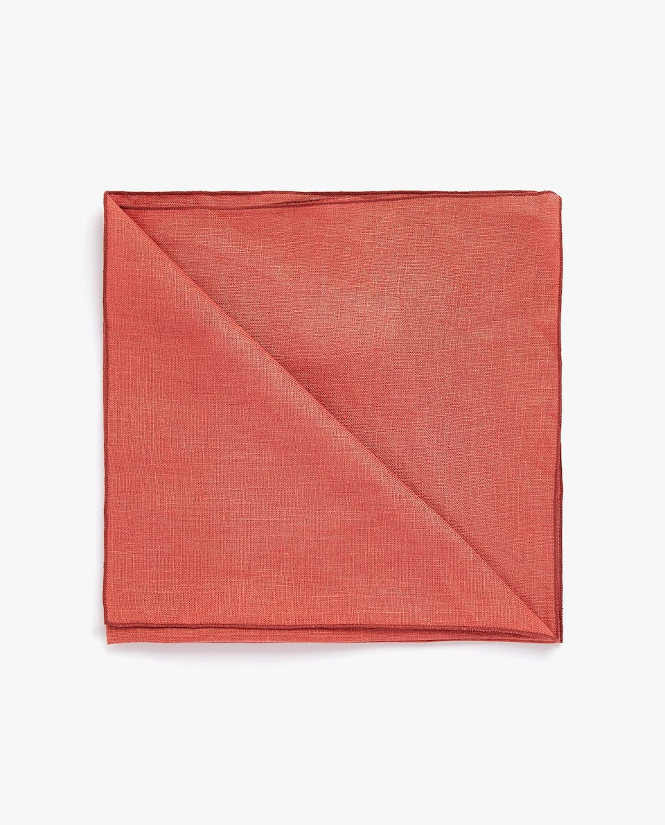 LINEN NAPKIN WITH TRIM (PACK OF 4)