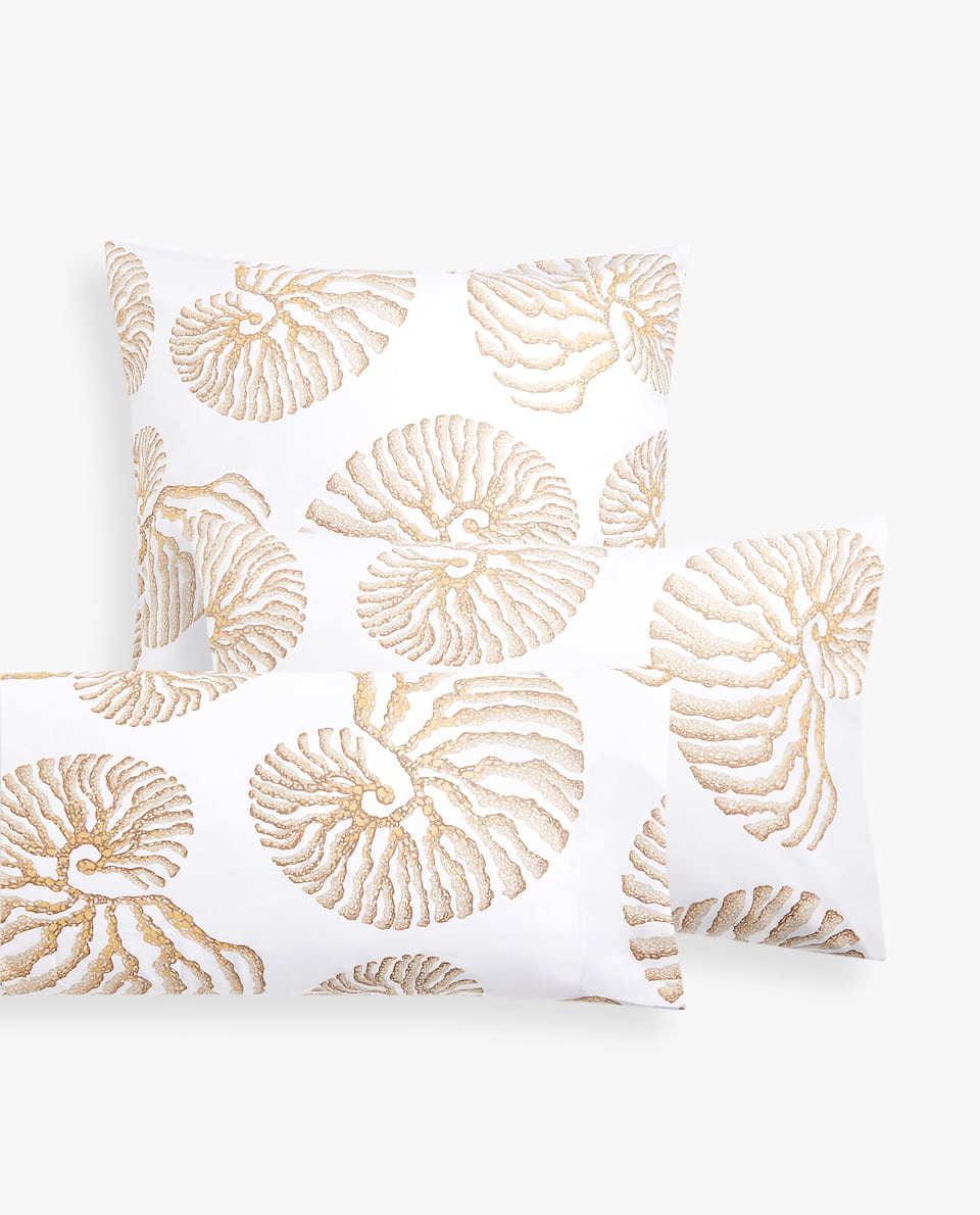 FOSSIL PRINT PILLOWCASE