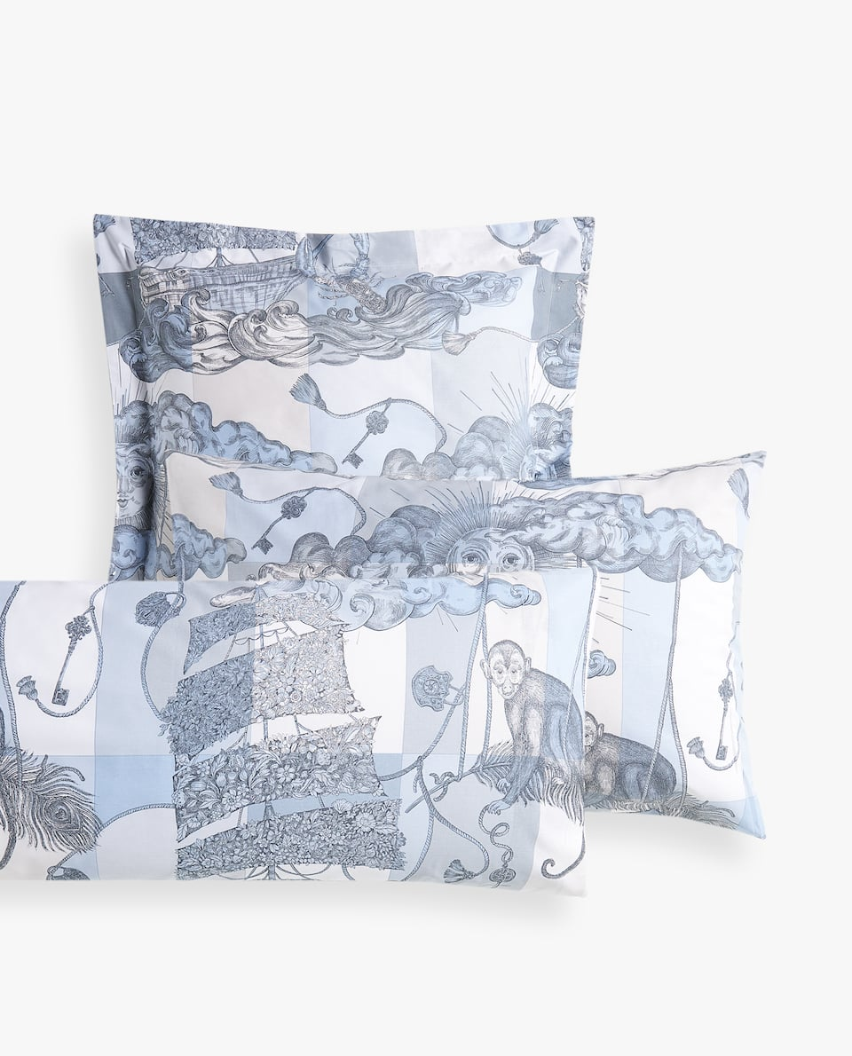 ALLEGORICAL PRINT PILLOWCASE