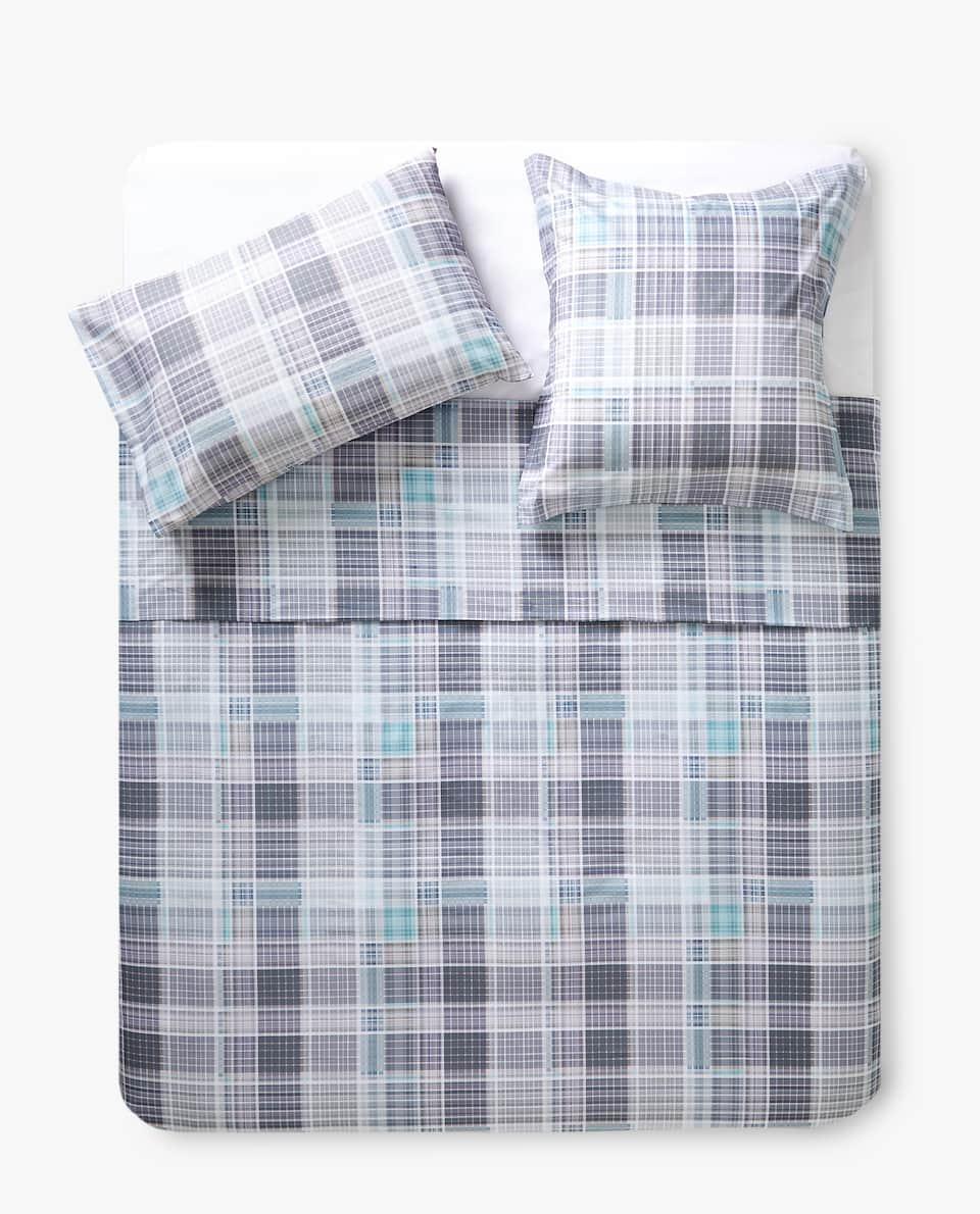 CHECKERED PRINT DUVET COVER