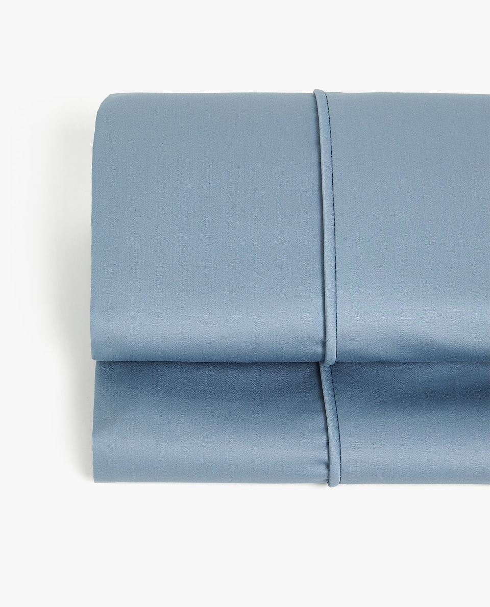 SATIN FLAT SHEET WITH PIPING