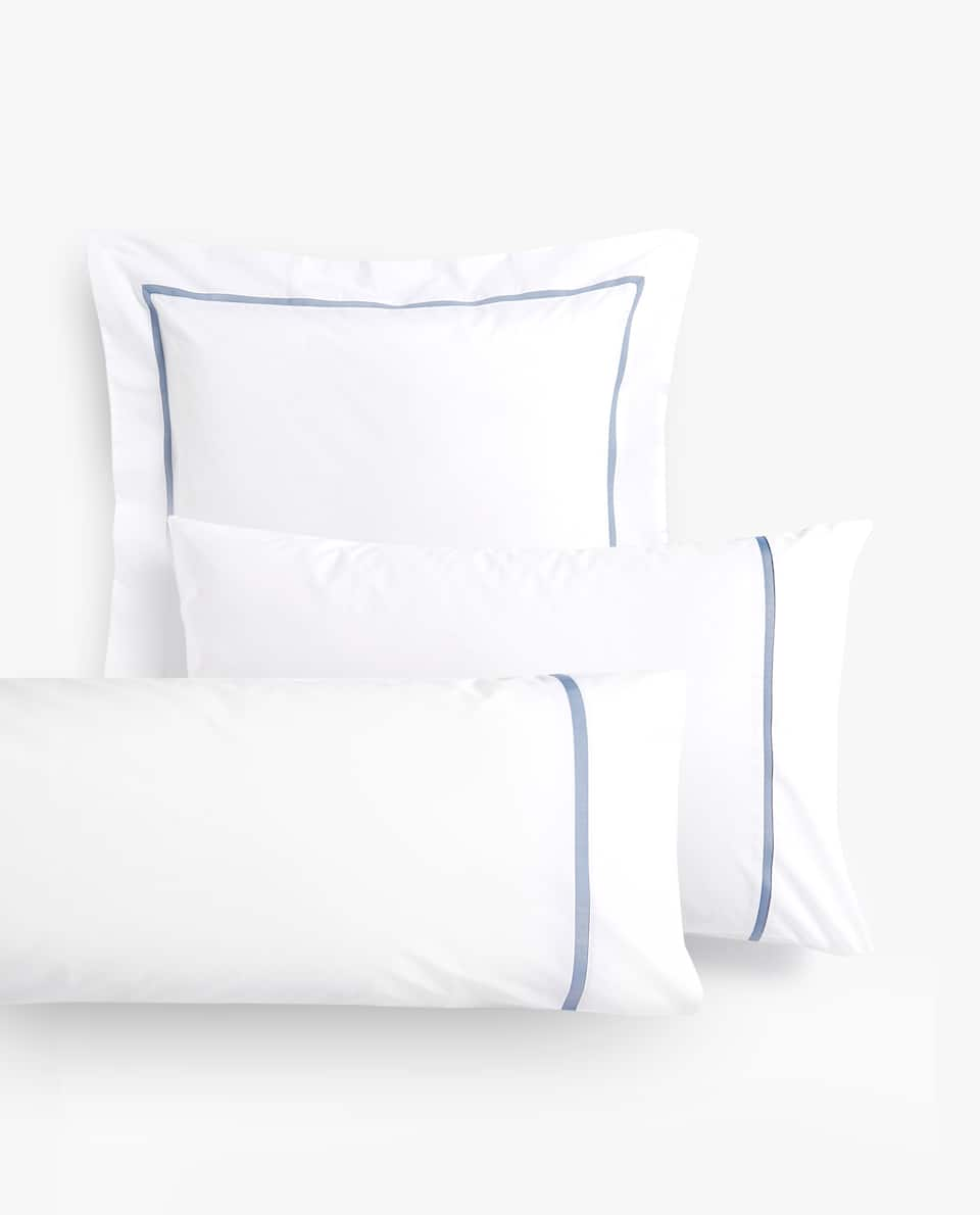 PILLOWCASE WITH CONTRASTING BAND