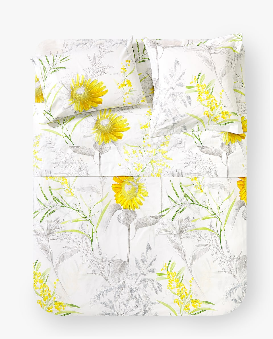 SUNFLOWER PRINT DUVET COVER