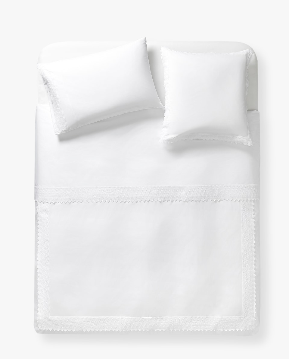 EMBROIDERED WAVES DUVET COVER