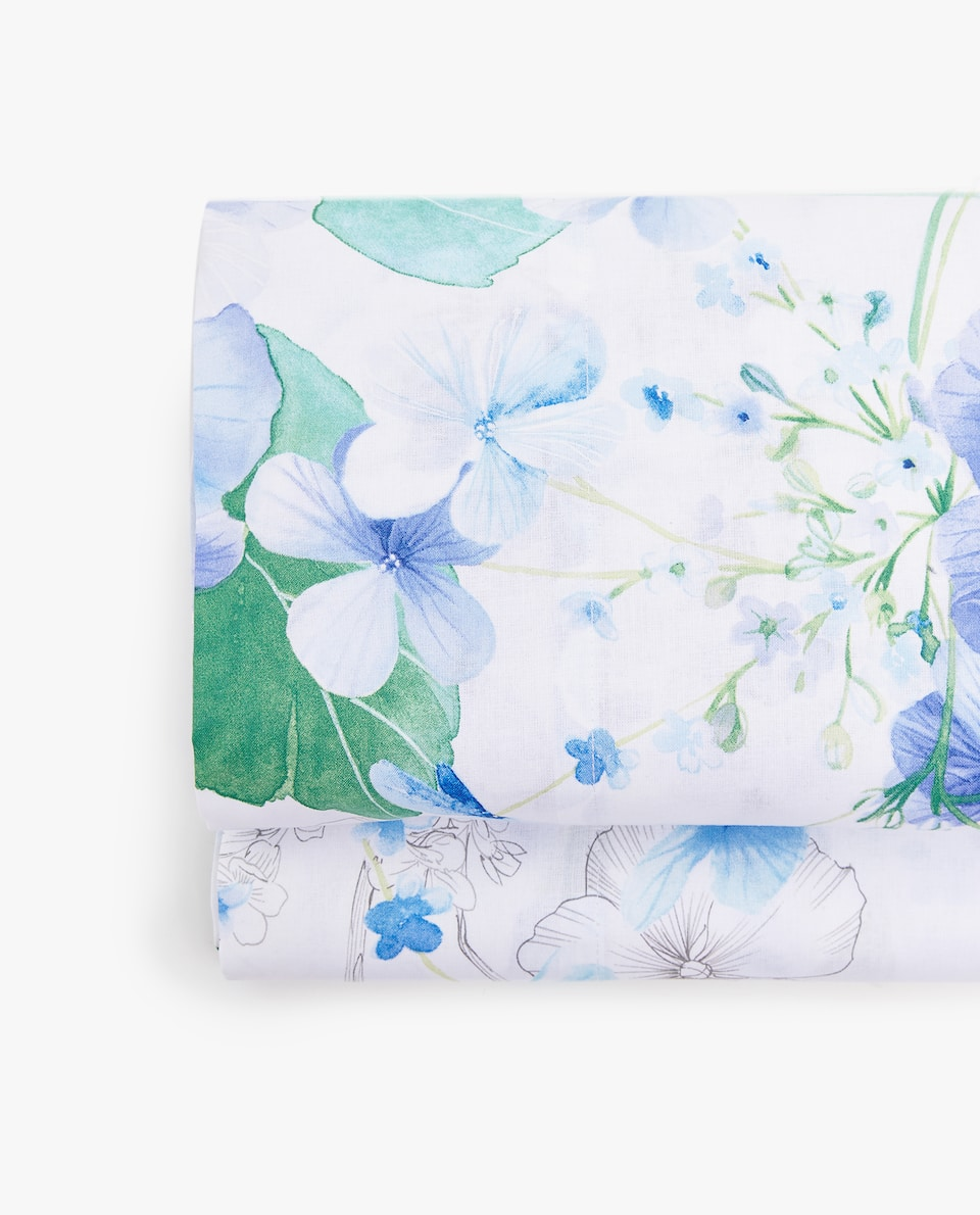 WATERCOLOUR FLOWER FLAT SHEET