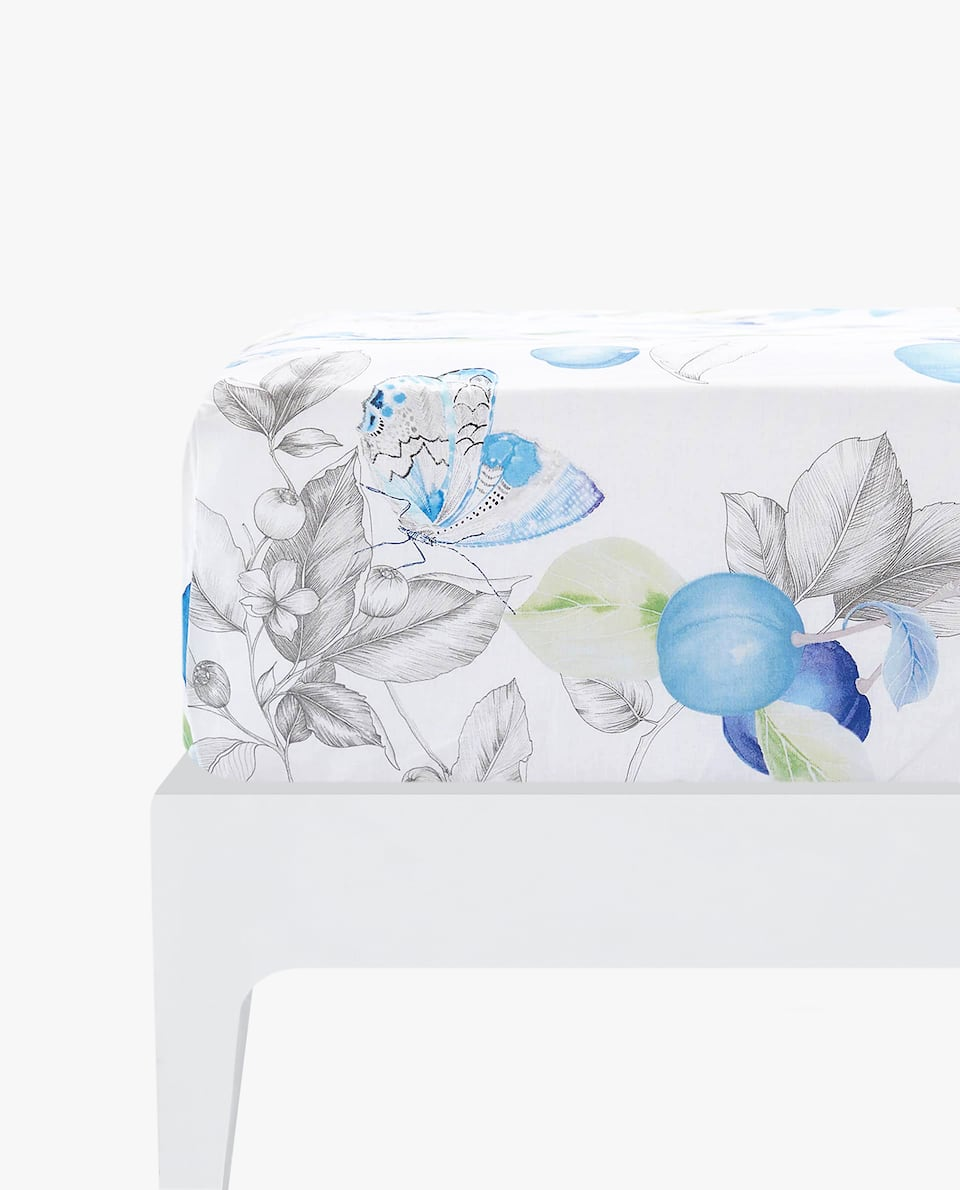 FRUIT PRINT FITTED SHEET