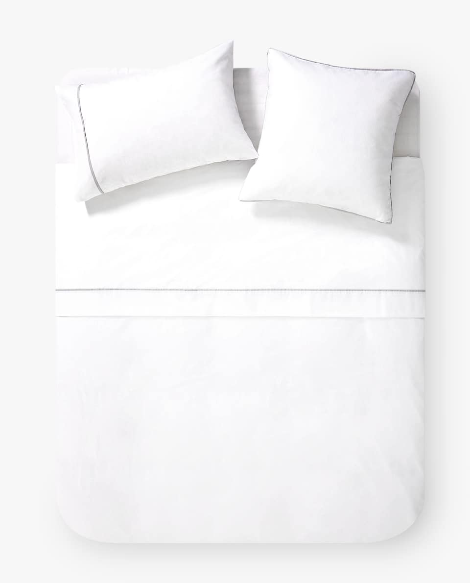 DUVET COVER WITH CONTRASTING BAND