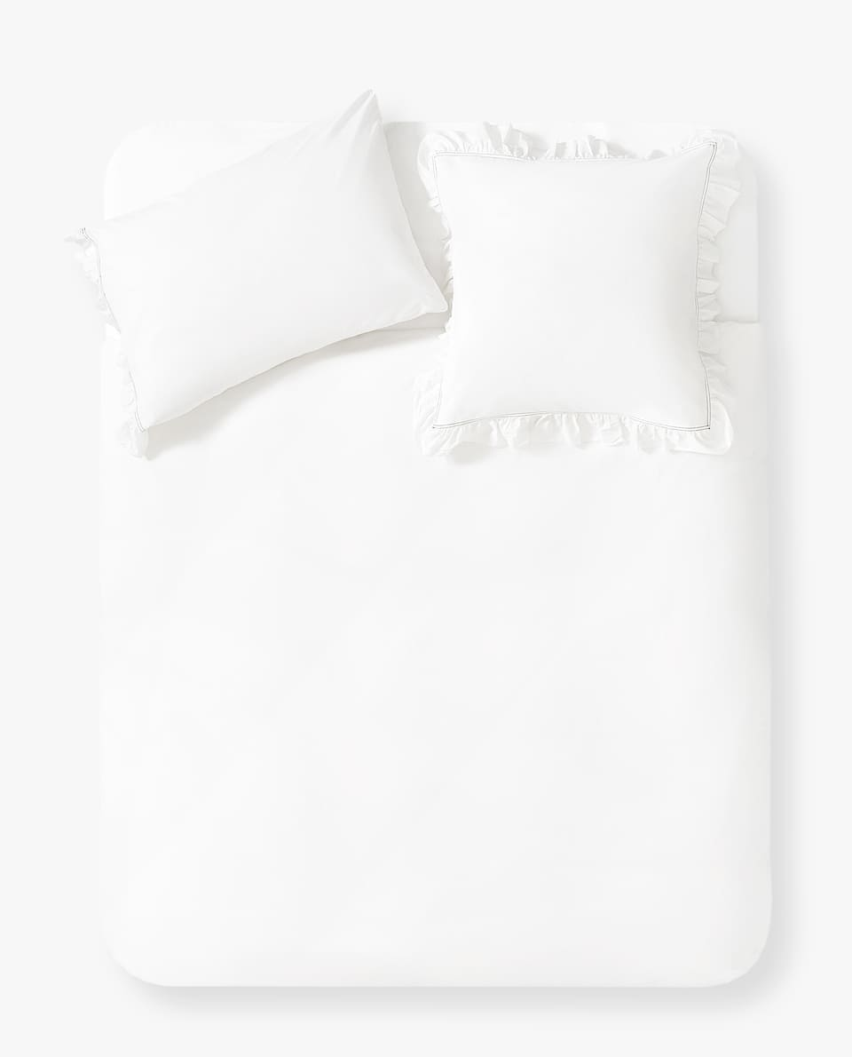 DOUBLE TOPSTITCHED DUVET COVER