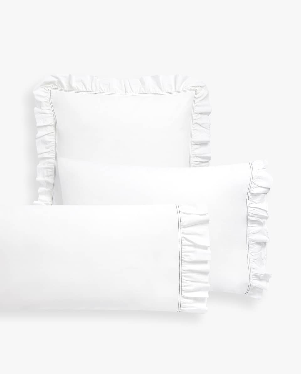 DOUBLE TOPSTITCHED PILLOWCASE