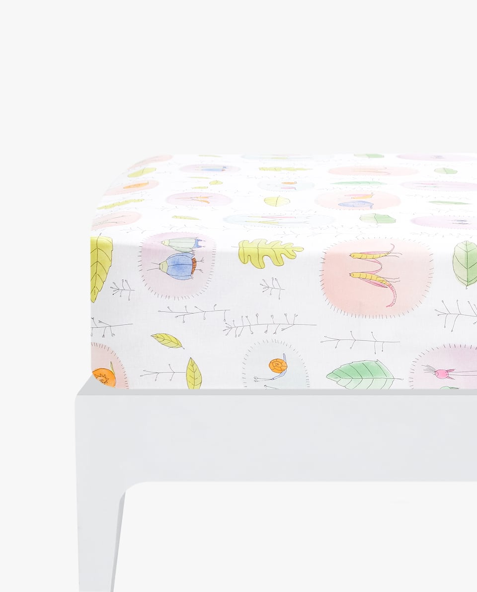 MINI LEAF PRINT FITTED SHEET
