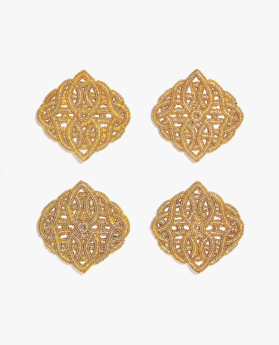 BEADED COASTER (PACK OF 4)