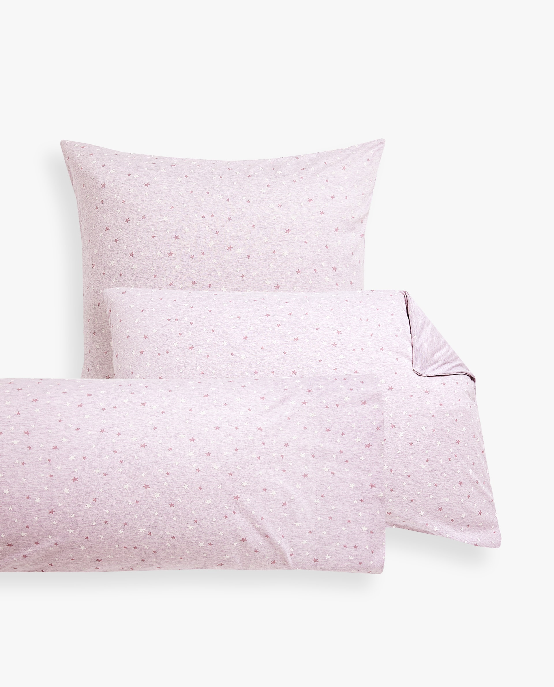 Star Print Cotton Jersey Pillowcase