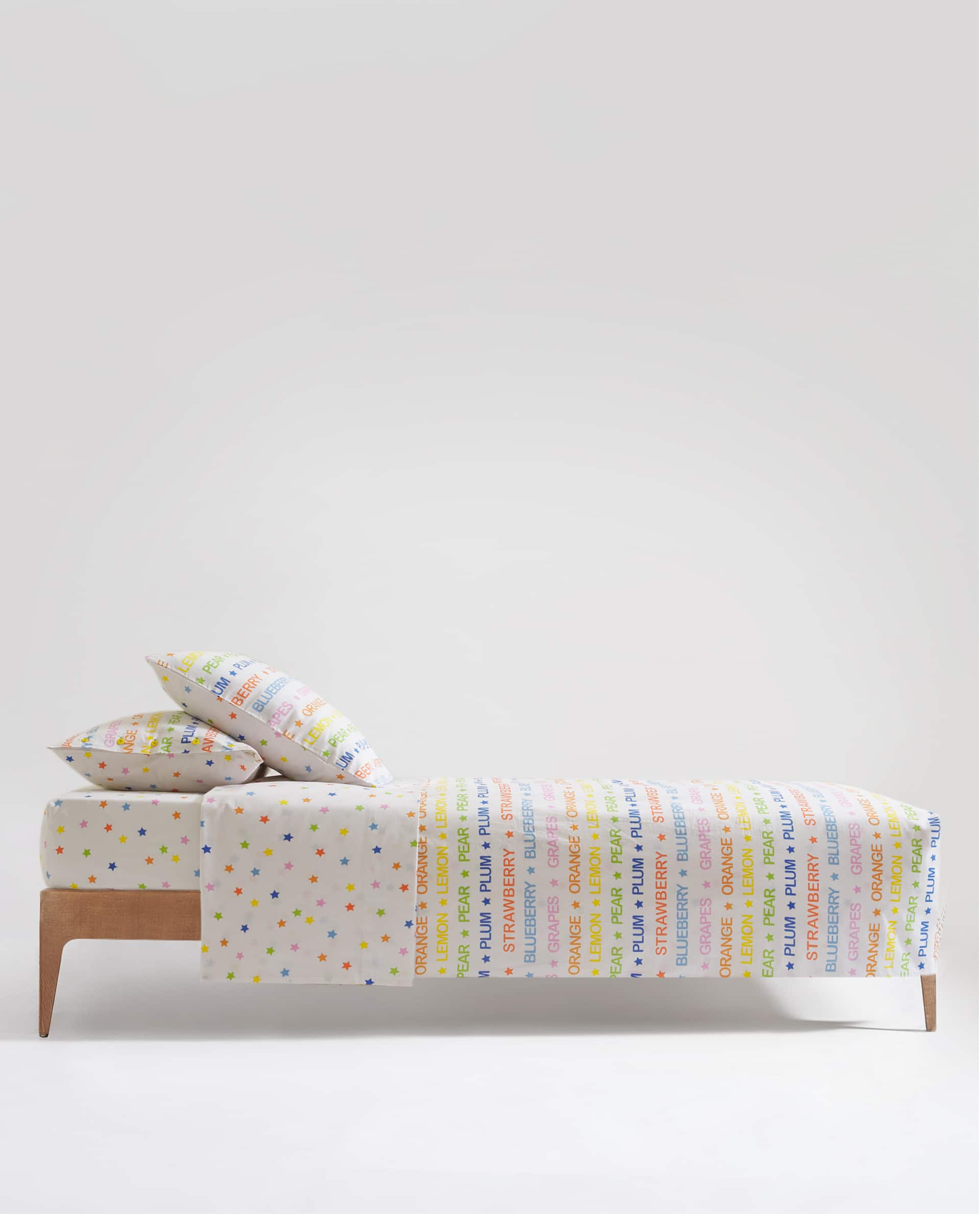 MULTICOLOURED STAR PRINT FITTED SHEET