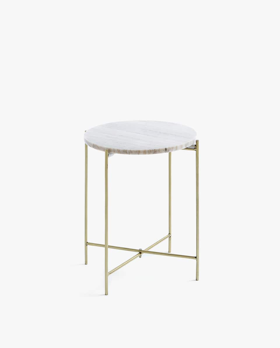GREY MARBLE TABLE