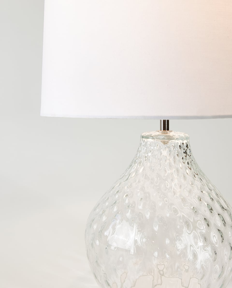 LAMPE MIT KRISTALLFUSS