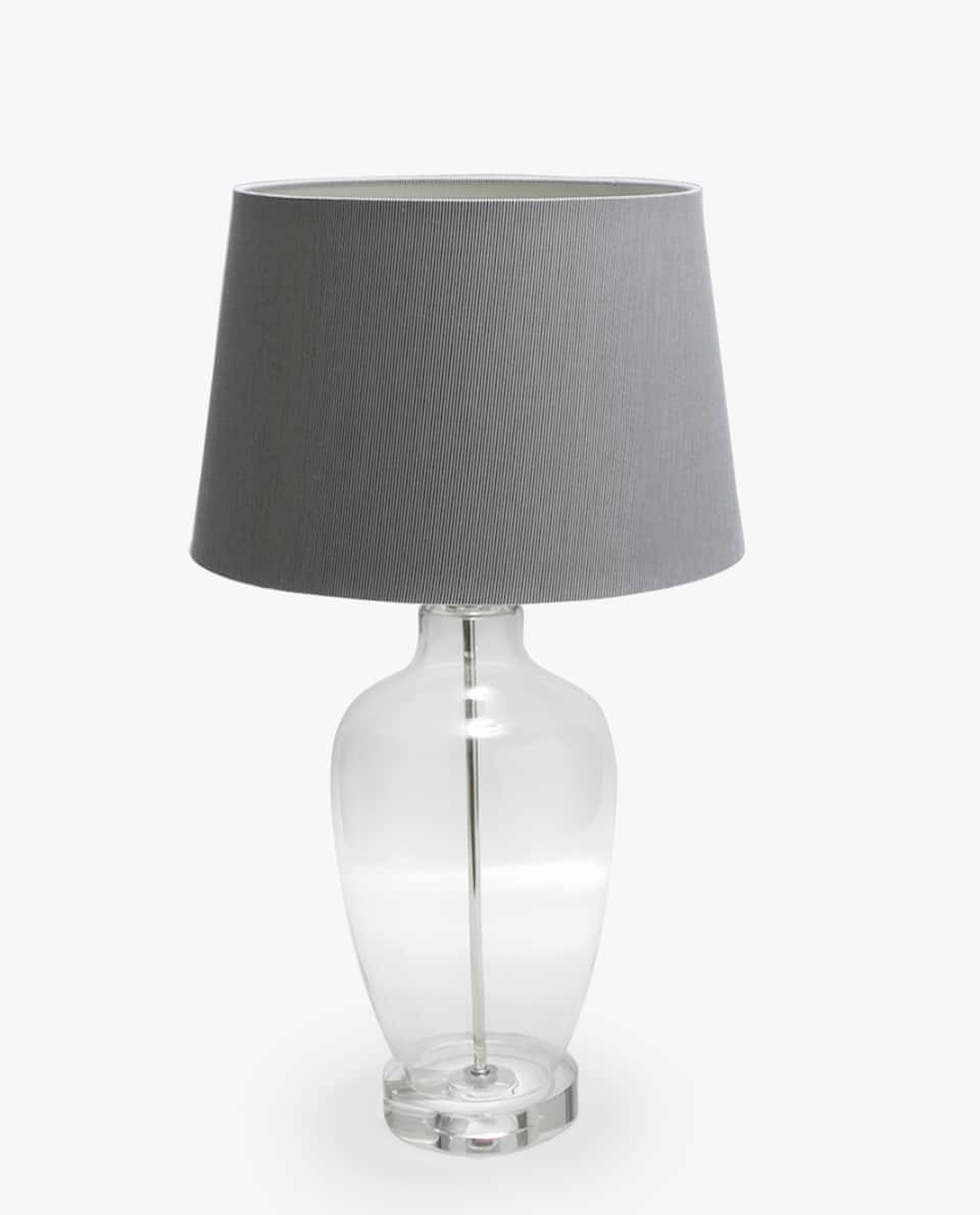 LAMP WITH GLASS VASE BASE