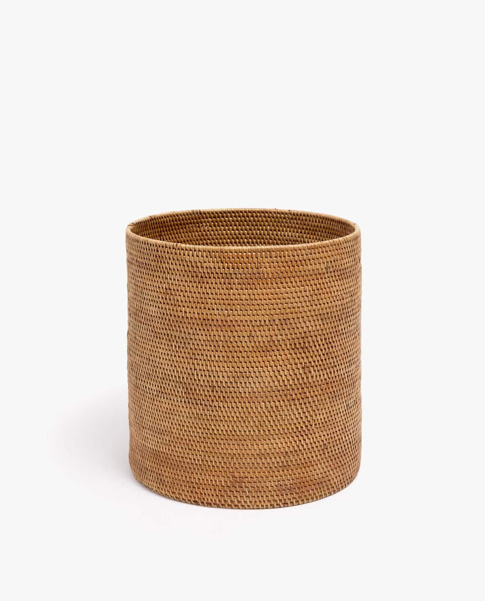 Papierkorb Aus Rattan by Zara Home
