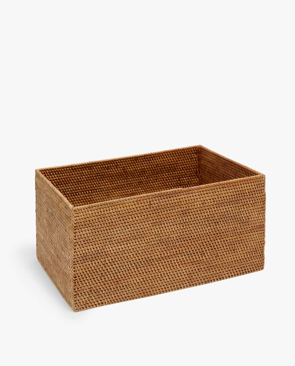 Rattan rectangular basket