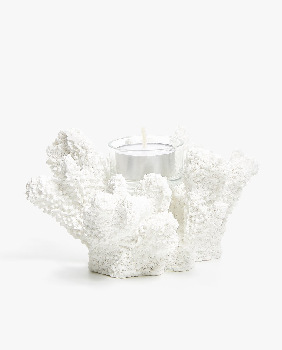 CORAL-SHAPED TEALIGHT HOLDER
