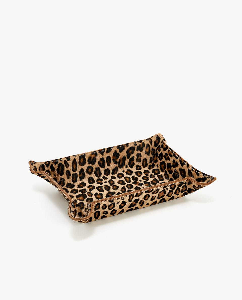 LEATHER LEOPARD SMALL CHANGE HOLDER