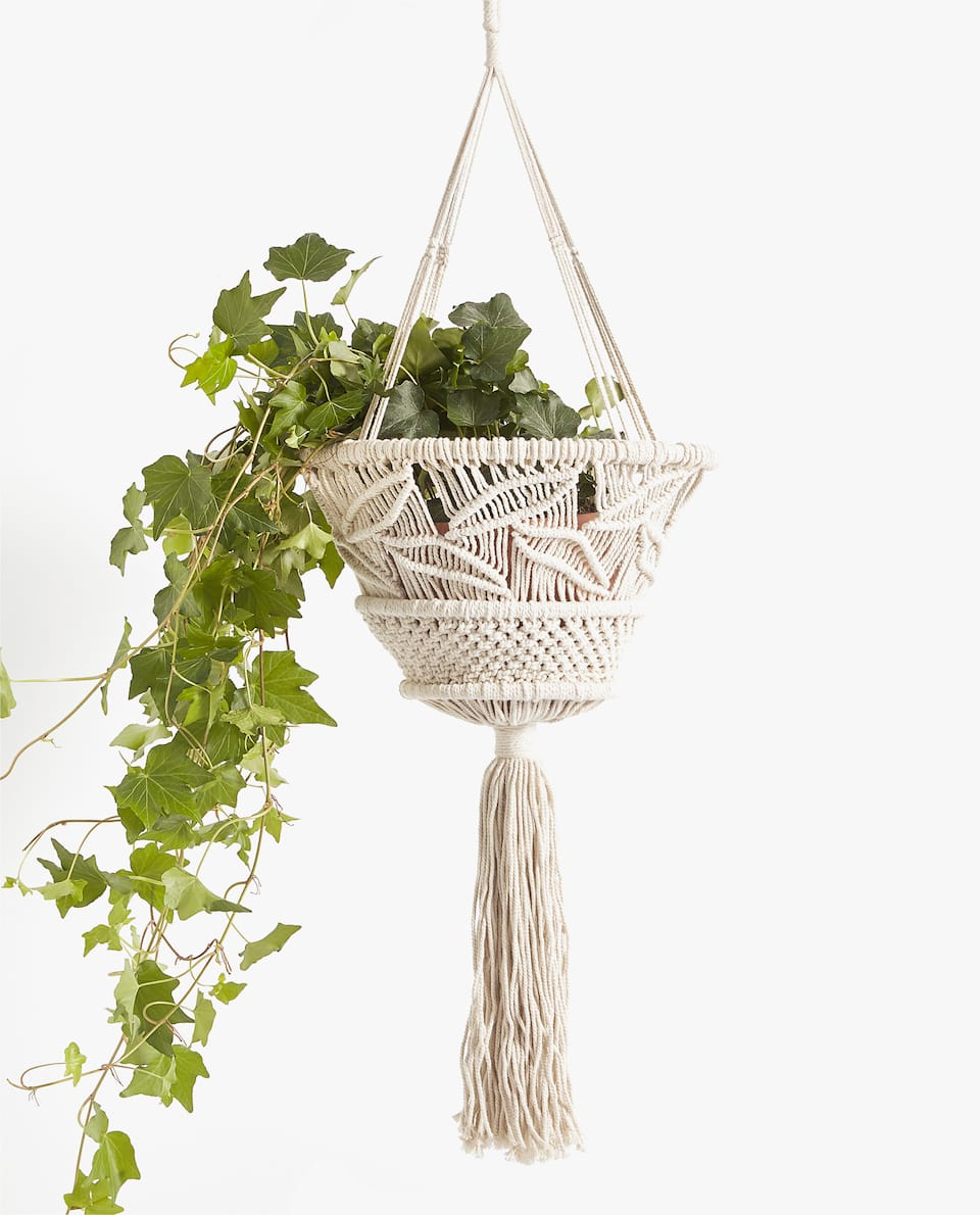 DECORATIVE COTTON FLOWERPOT