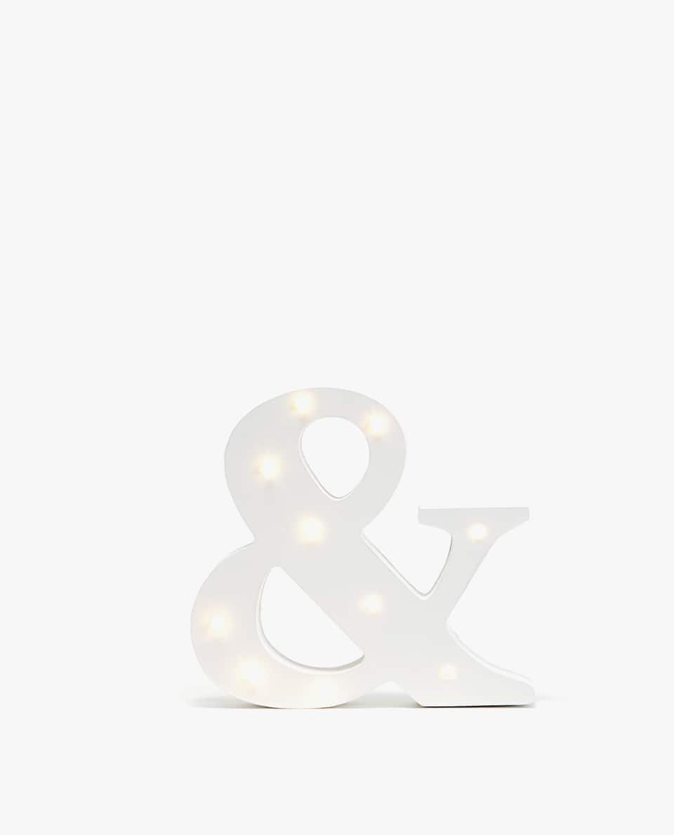 DECORATIVE LETTER WITH LIGHTS