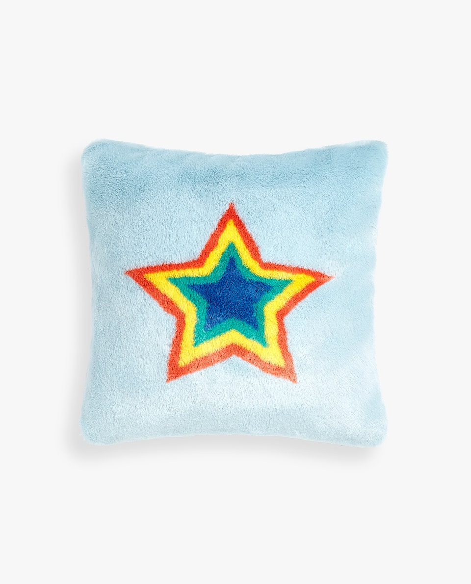FUZZY STAR CUSHION COVER