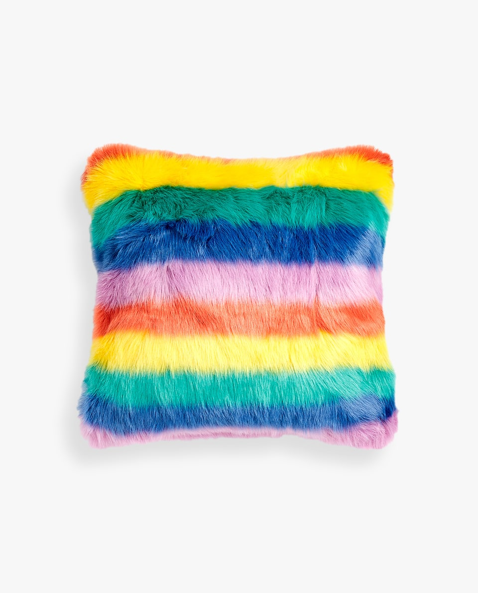 MULTICOLOURED FUZZY CUSHION COVER
