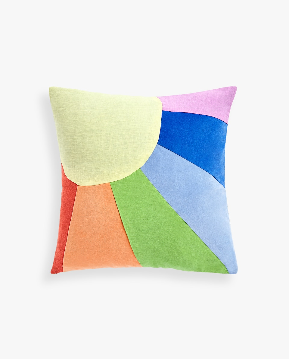 RAINBOW PATCHWORK CUSHION COVER