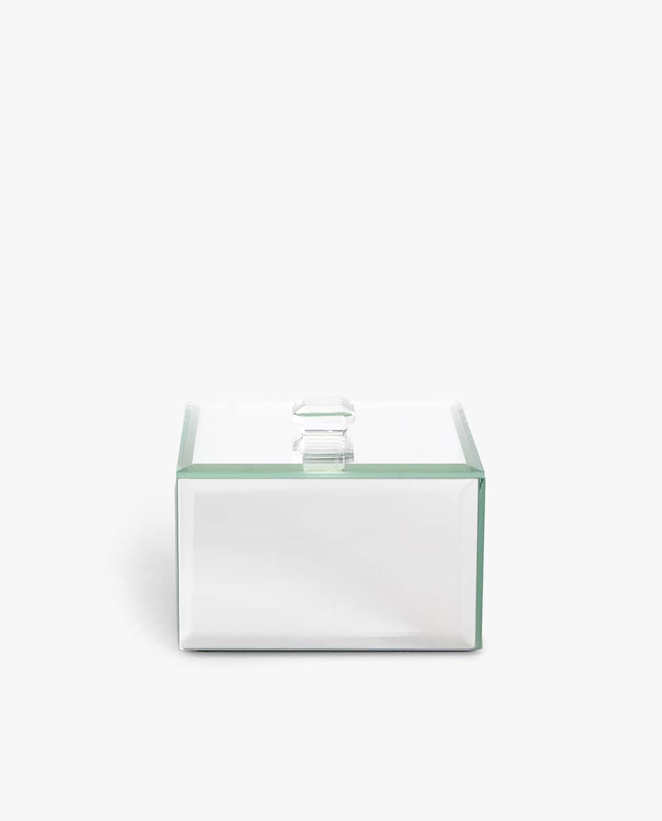 MIRRORED JEWELLERY BOX WITH LID