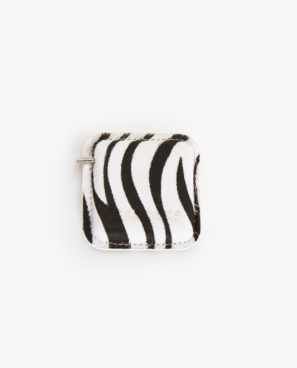 ZEBRA PRINT MEASURING TAPE CASE