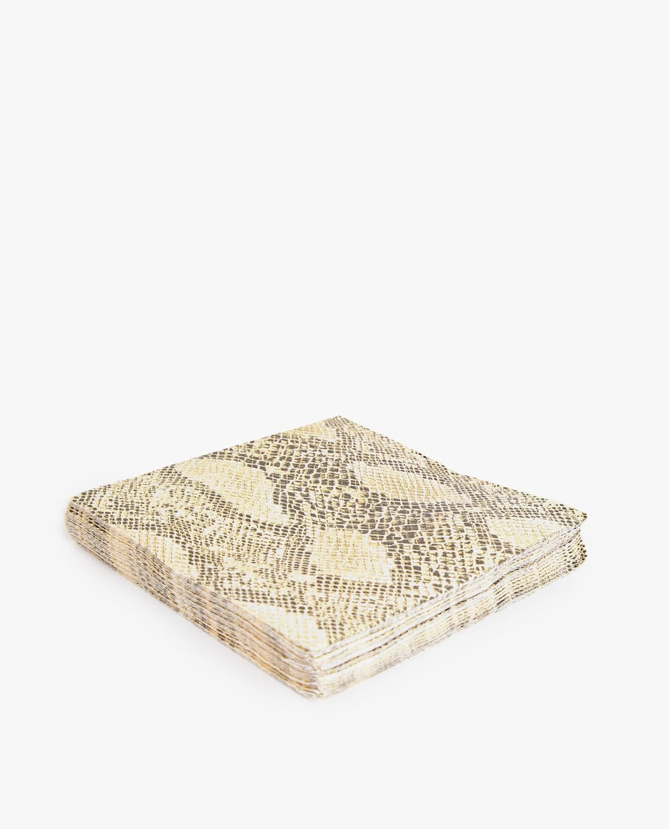 SNAKE PAPER NAPKIN (PACK OF 20)