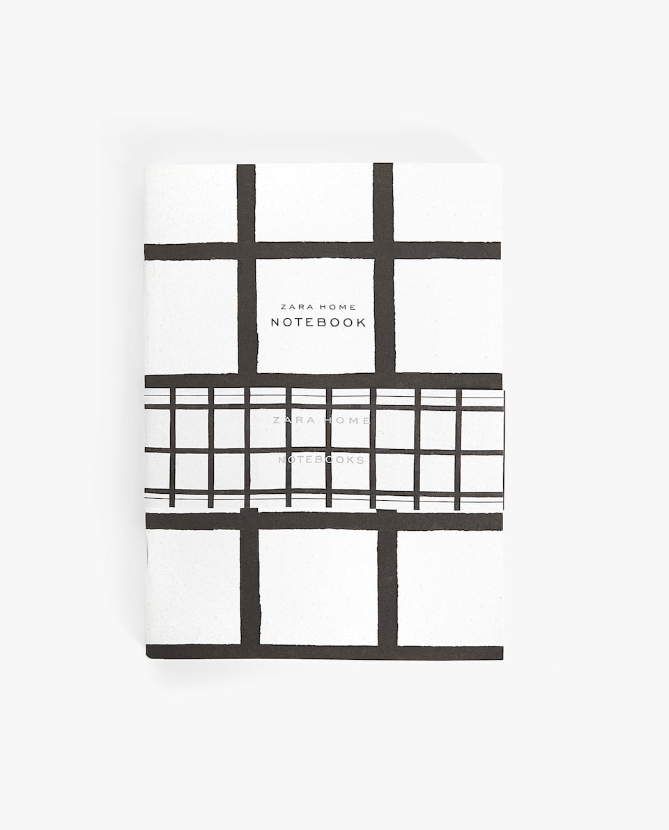 GRID PRINT NOTEBOOK (PACK OF 3)