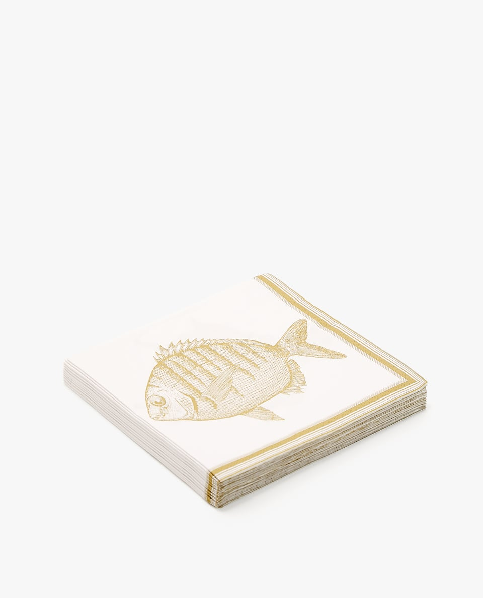 FISH PAPER NAPKIN (PACK OF 20)