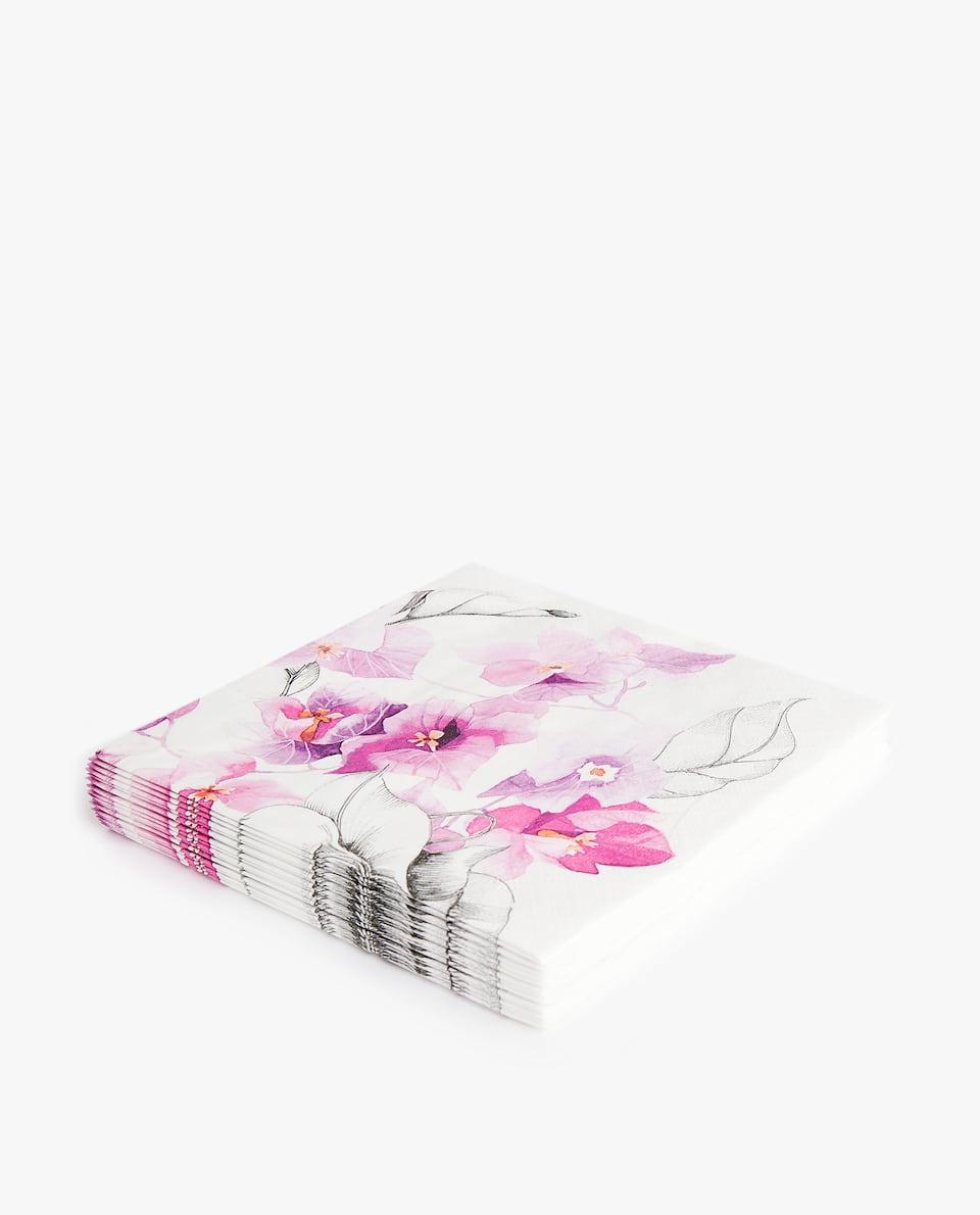 BOUGAINVILLEA PAPER NAPKIN (PACK OF 20)