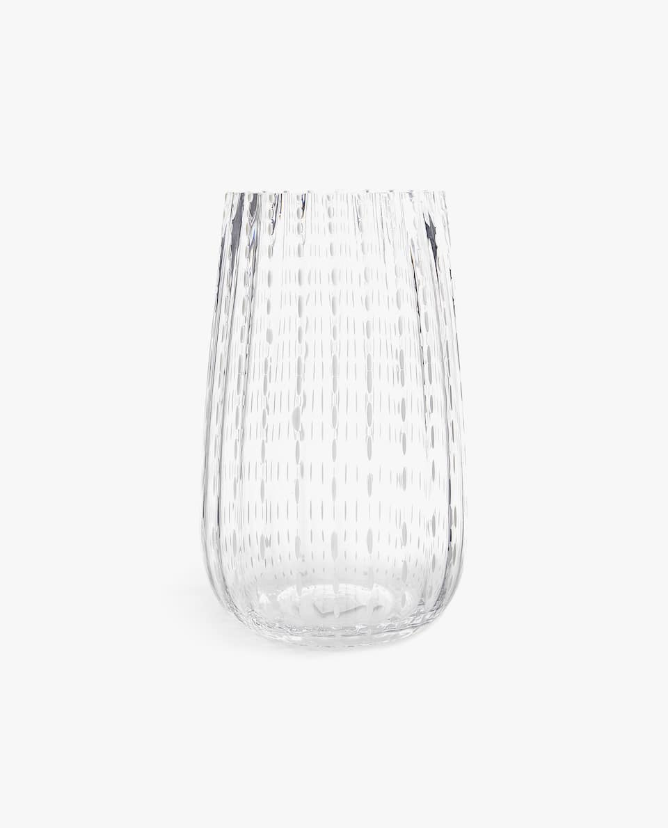 RAISED DOT GLASS VASE