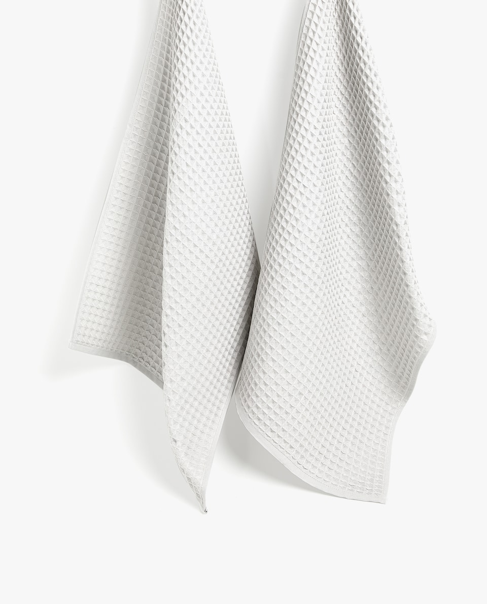 WAFFLE-KNIT TEA TOWEL (SET OF 2)