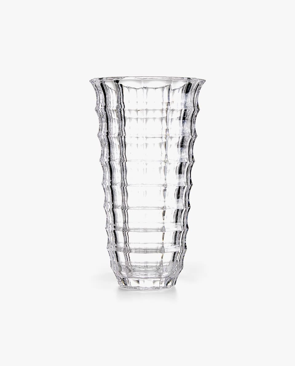 CHECKED GLASS VASE