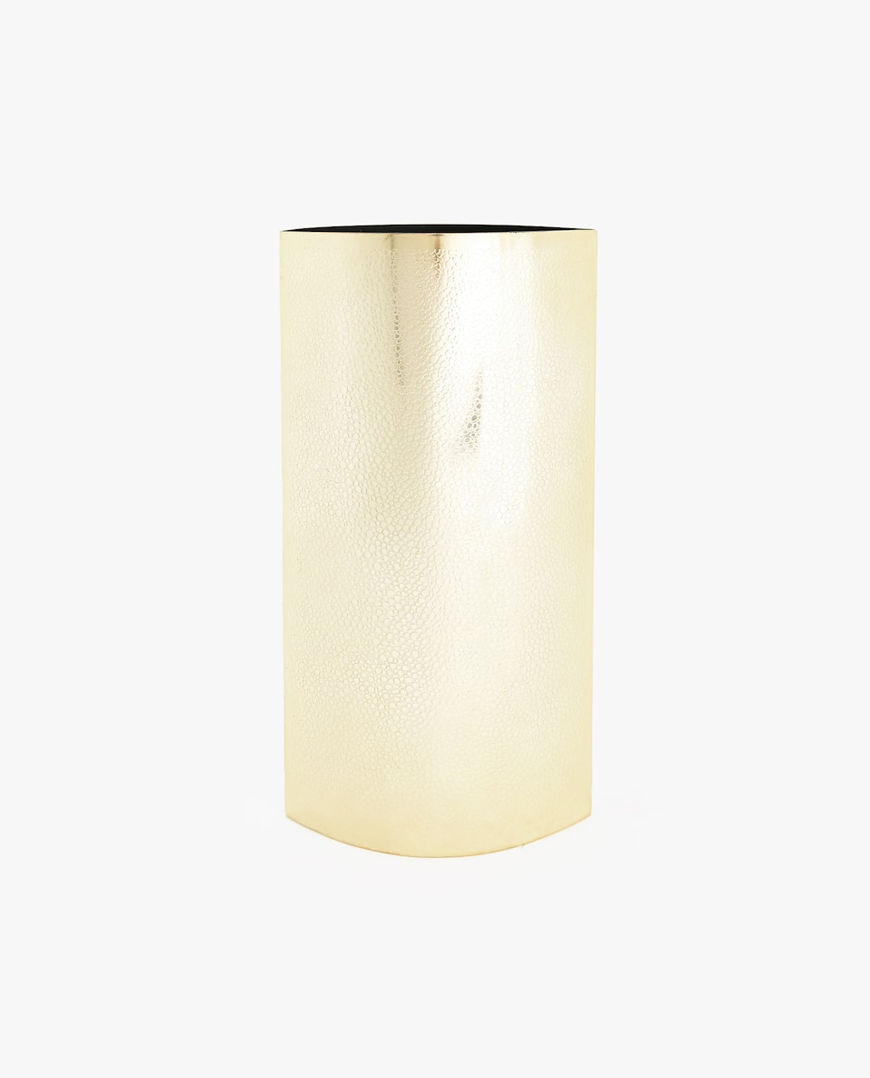 GOLD METAL SHAGREEN VASE