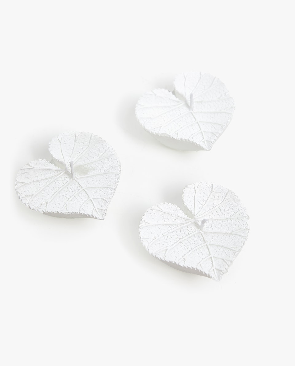 LEAF-SHAPED CANDLE (PACK OF 3)