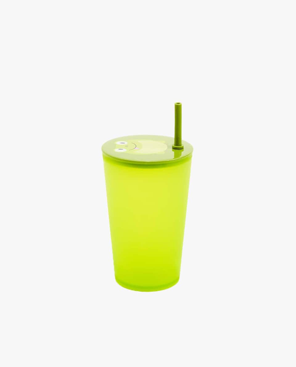 FROGGY CUP WITH LID AND STRAW