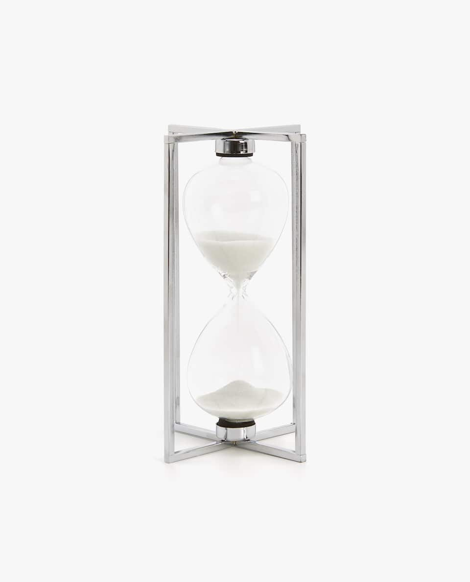 HOURGLASS WITH SILVER FRAME